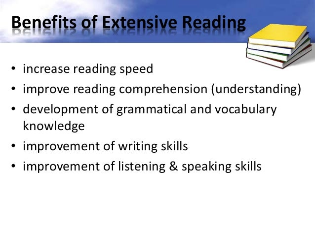 extensive reader Learn how to help students with differing types of reading problems and how to  implement both intensive and extensive reading strategies learn strategies to.