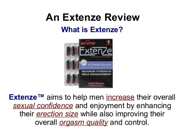 Extenze Pills For Males