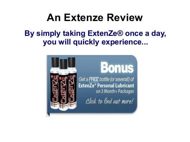 Do You Have To Take Extenze Everyday 4 Ed?