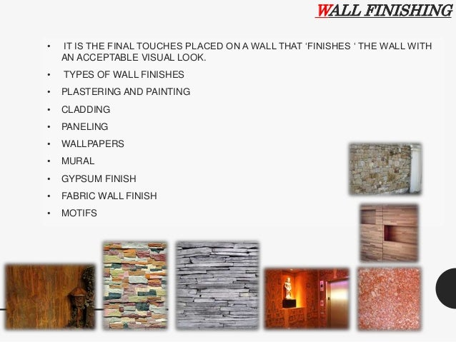 Exterior And Interior Finishes Building Construction