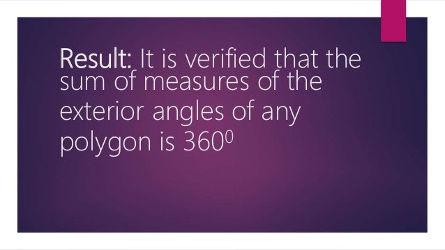 Exterior angles of a polygon - Sum of exterior angles of polygon ...