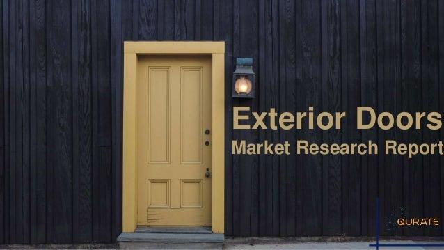 Exterior Doors Market By Door Type Panel Doors Bypass Doors Bifold