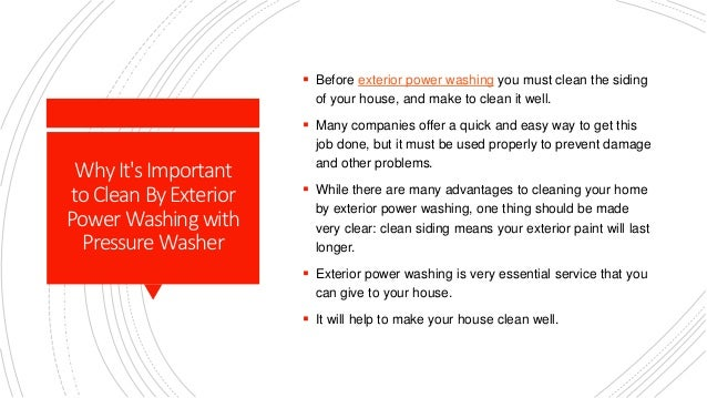 Exterior Power Washing - Use A Professional Patio Cleaning