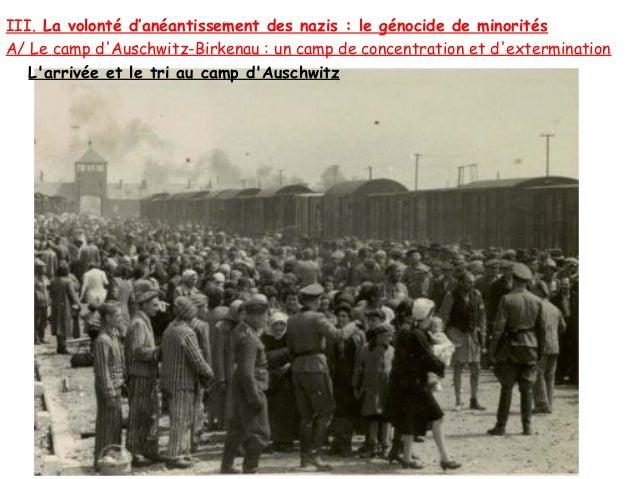 III. La volonté d'anéantissement des nazis : le génocide de minoritésA/ Le camp dAuschwitz-Birkenau : un camp de concentra...