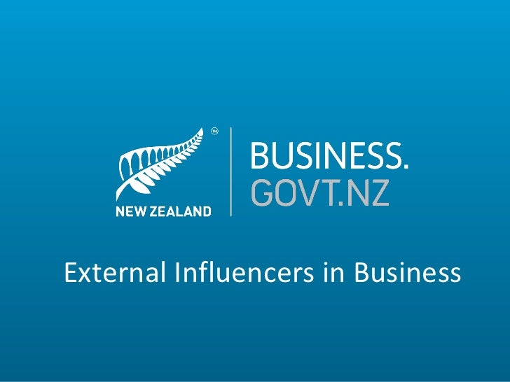 External Influencers in Business