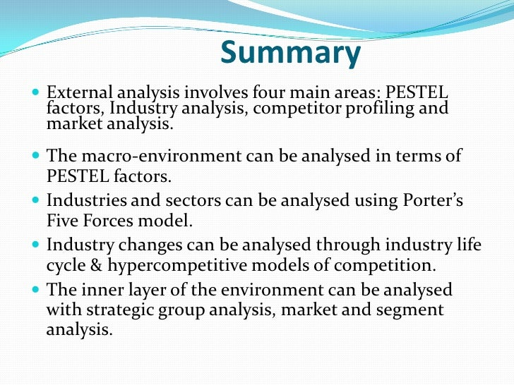 strategic management external analysis Swot analysis questions  environmental factors in strategic planning  controllable and changeable through planning and management processes the external.