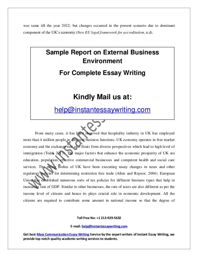 the present business environment business essay Articles for business professionals why are presentation skills important most people will agree that presentation skills are important.
