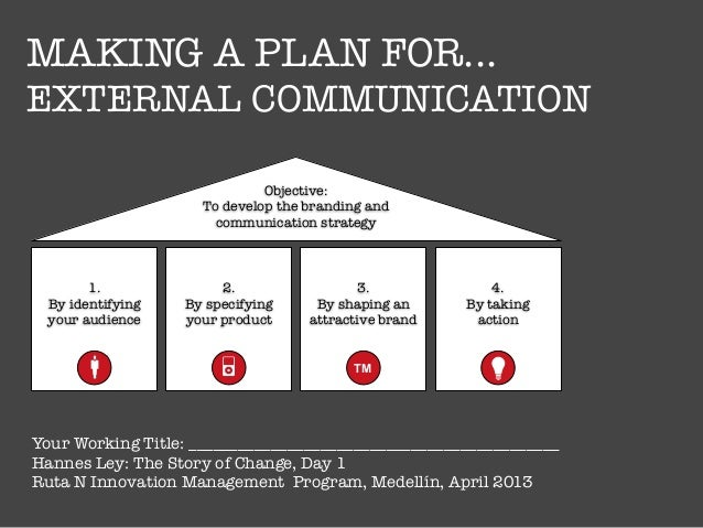 how to write a communication plan and strategy