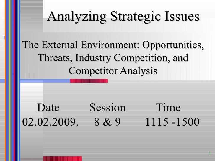 hp external environment analysis The task environment competitive forces external stakeholders  this chapter is about the influence of the external environment on  analysis of societal.