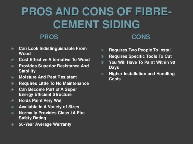 External finishes fibre cement siding for Fibre cement siding pros and cons