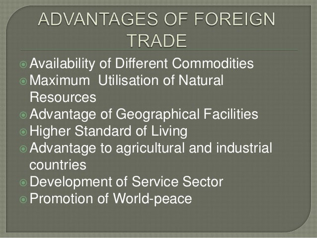 advantages of foreign trade