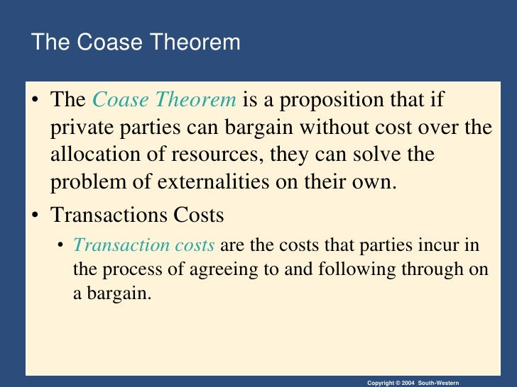 coases theorem of coase and cattle Of property rules, coase, and intellectual property robert p merges i iprs and the coase theorem: or, why the indifference thesis fares wandering cattle to serve as an unambiguous marker, although a direct.