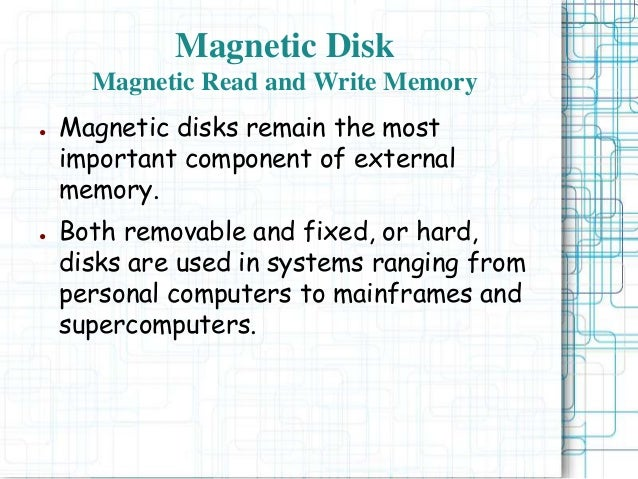 External memory - Computer Architecture