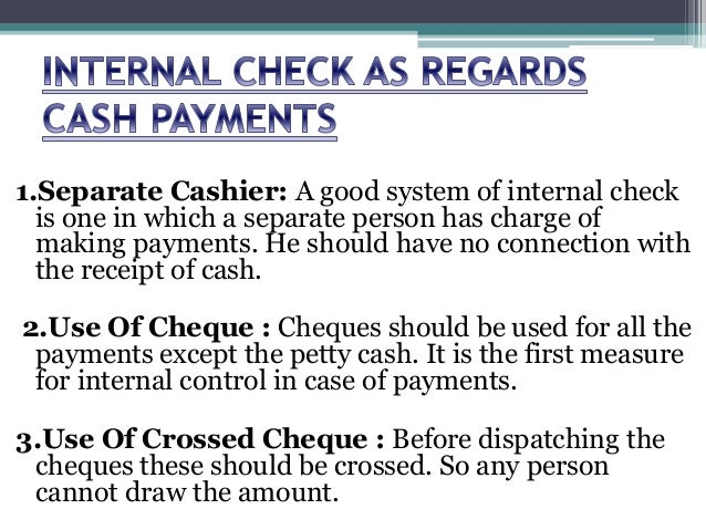 what is internal check system