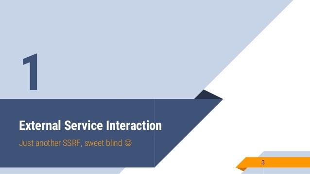 External service interaction