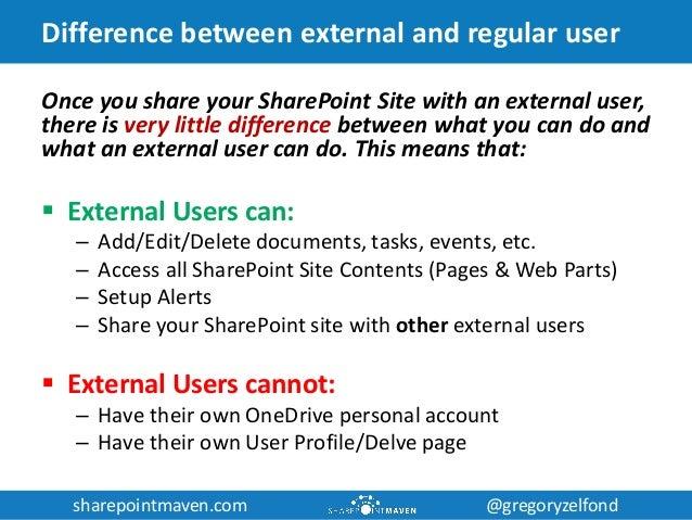sharepointmaven.com @gregoryzelfondsharepointmaven.com @gregoryzelfond Difference between external and regular user Once y...