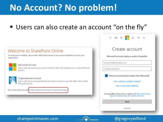sharepointmaven.com @gregoryzelfondsharepointmaven.com @gregoryzelfond No Account? No problem!  Users can also create an ...