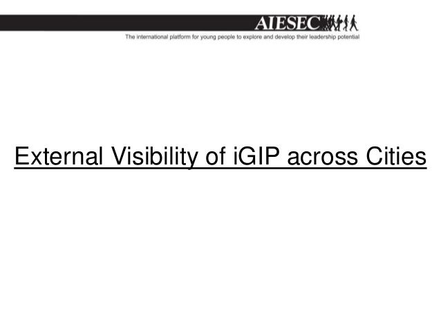 External Visibility of iGIP across Cities