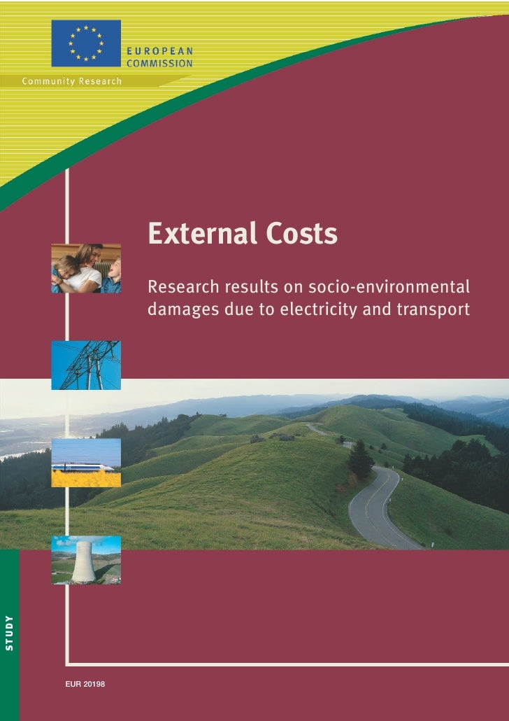 External Costs                      Research results on socio-environmental                      damages due to electricit...