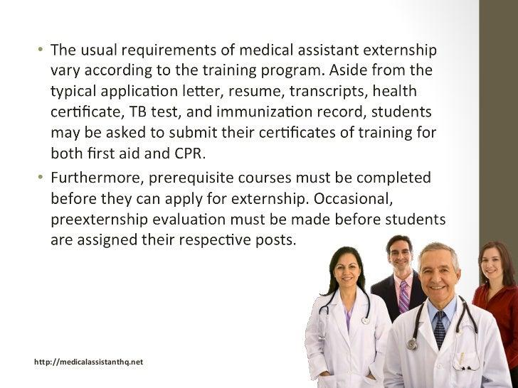 Externship for Medical Assistants