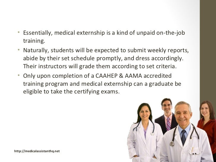 Externship for Medical Assistants
