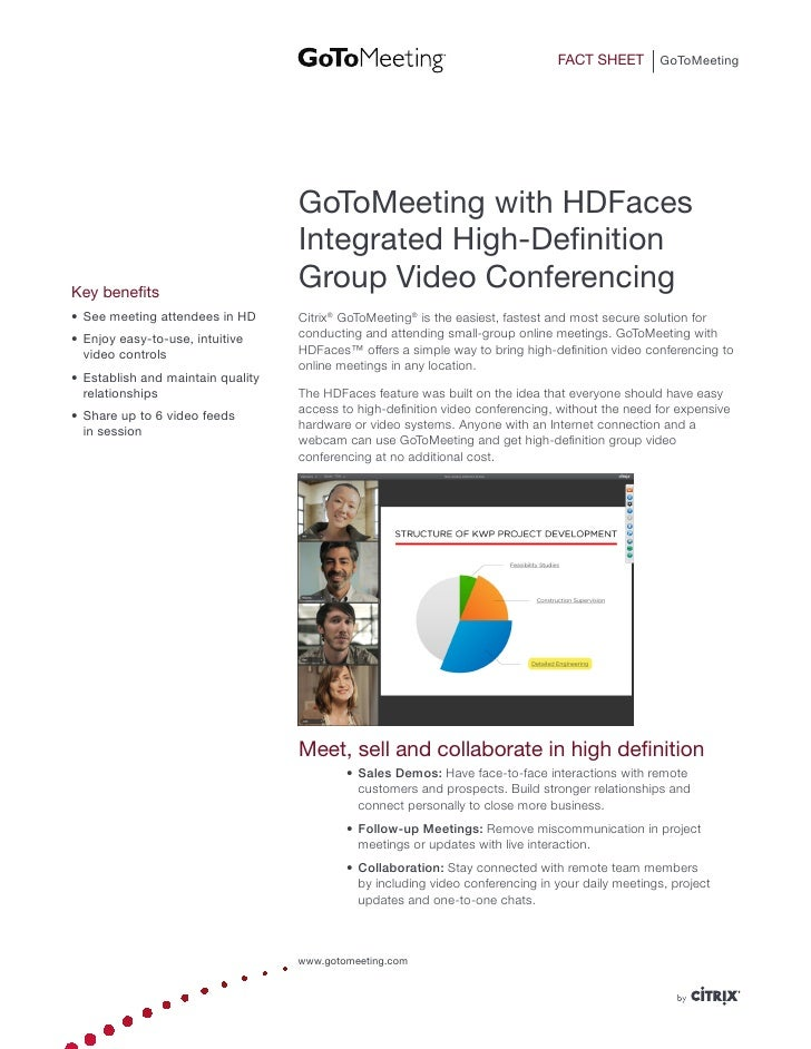 FACT SHEET        GoToMeeting                                    GoToMeeting with HDFaces                                 ...