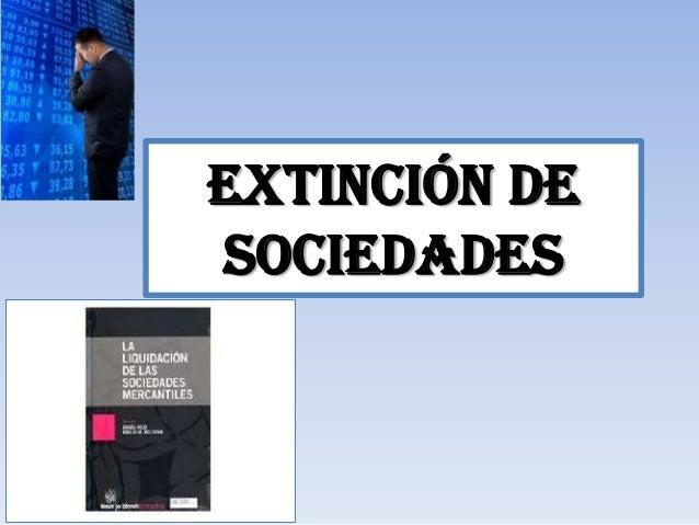 Extinción desociedades