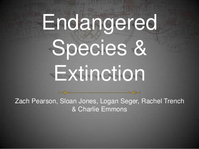 Endangered         Species &         ExtinctionZach Pearson, Sloan Jones, Logan Seger, Rachel Trench                  & Ch...