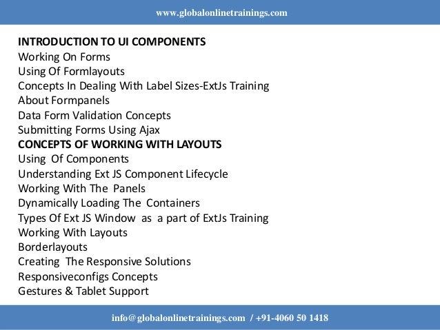 ExtJs Training   ExtJs Online Training   ExtJs 5 Training - GOT