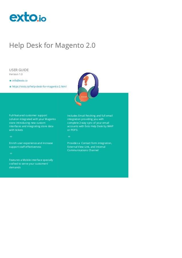 exto help desk for magento 2 user guide rh slideshare net magento user guide français magento user guide 2.2.5