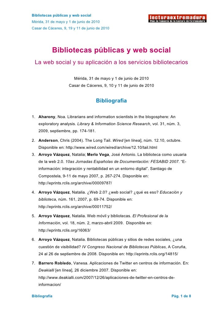 Bibliotecas públicas y web social Mérida, 31 de mayo y 1 de junio de 2010 Casar de Cáceres, 9, 19 y 11 de junio de 2010   ...