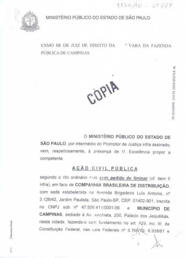 MP 4' Iiunpvonnoonckl     , q , i    (4 _ A  f;  r  MINISTÉRIO PÚBLICO DO ESTADO DE SÃO PAULO  EXMO SR DR JUIZ DE DIREITO ...