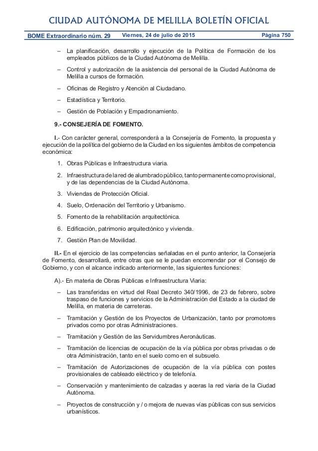 Decreto de atribuci n de competencias a las consejer as de for Oficina de asistencia en materia de registros
