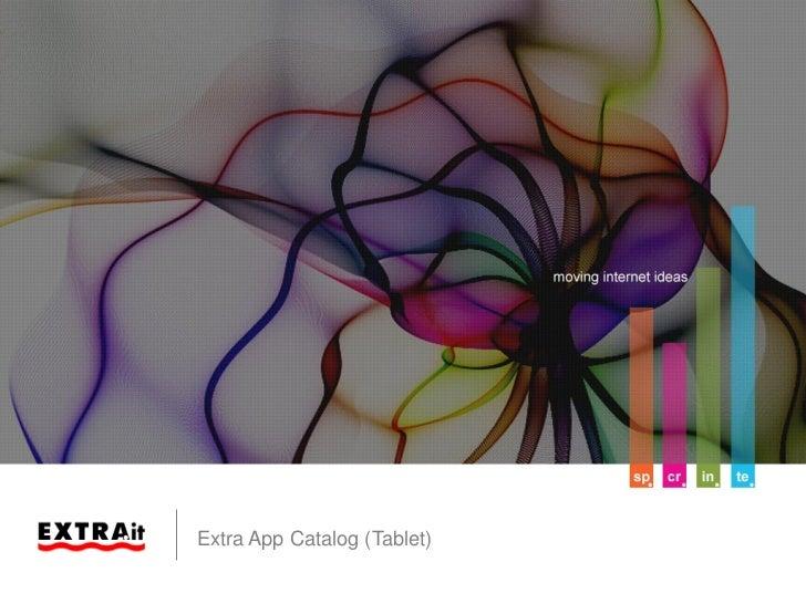 Extra App Catalog (Tablet)Slide 1