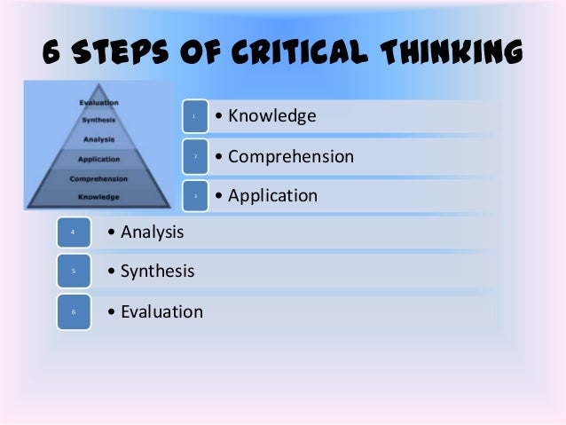 Three step process in critical thinking