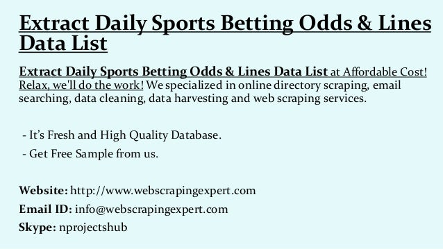 Daily sports betting odds you can bet on yourself