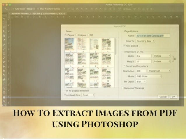 How To Extract Images from PDF using Photoshop