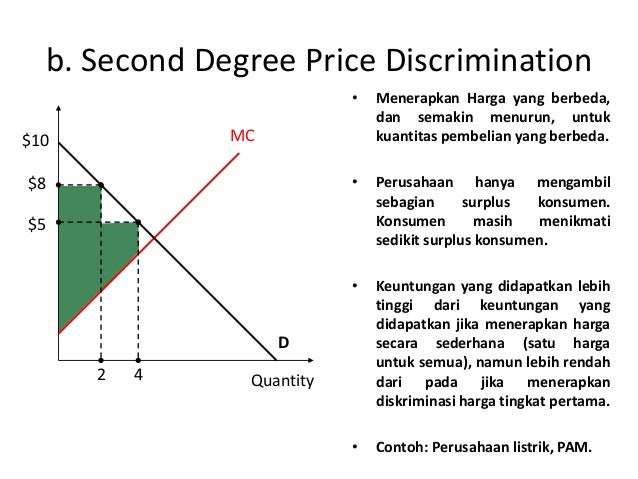 2nd degree price discrimination Khan and jain focused on the patterns and impact of second- and third-degree  price discrimination, which are far more common in most.