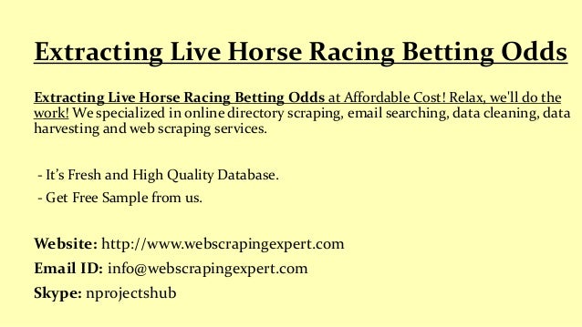 Live horse racing odds betting odds sports betting point spread