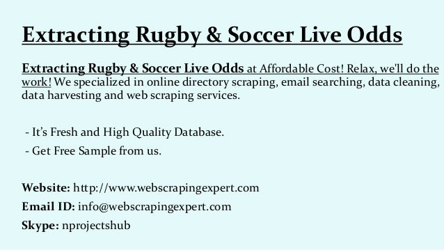 Extracting rugby & soccer live odds