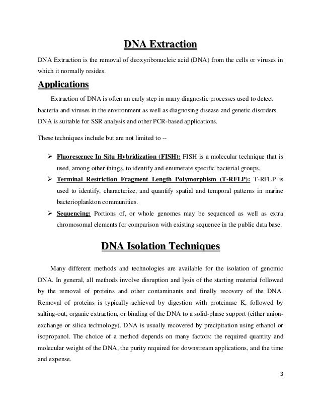 Isolation of dna from sperm