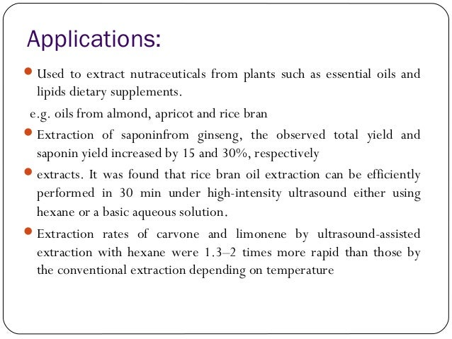 microwave assisted extraction technique for oil extraction Review article microwave assisted extraction (mae)  assisted extraction (mae) technique has been developed for the extraction of antioxidant constituents in plants.