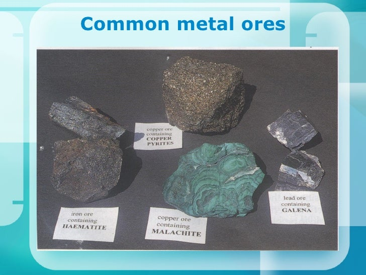 Common metal ores