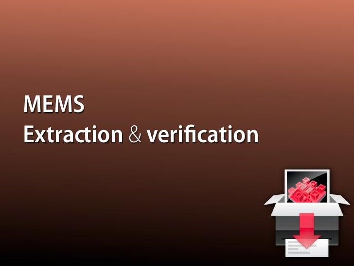 MEMS Extraction & verification