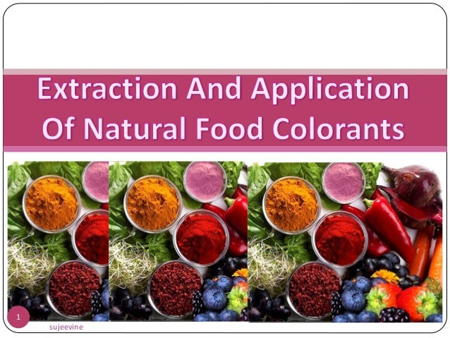 Extraction and application of natural food colorants for Extraction cuisine