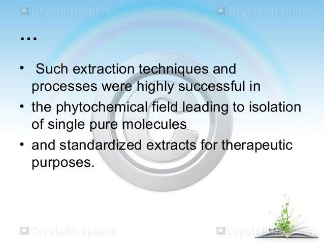 Extraction in pharmaceutics