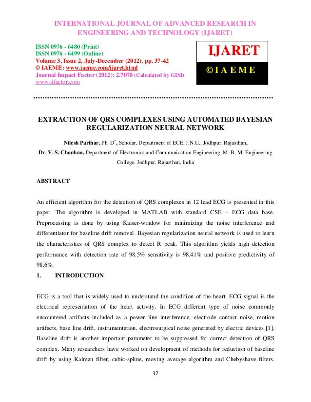 International Journal of Advanced Research in Engineering and Technology (IJARET), IN 0976       INTERNATIONAL JOURNAL OF ...