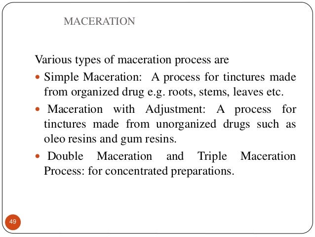 Extraction Processes