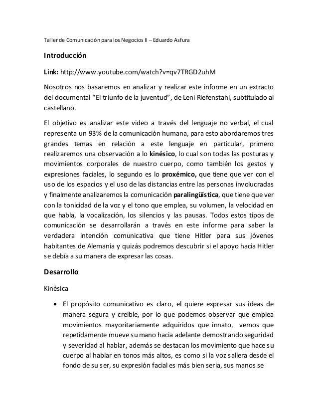 Taller de Comunicación para los Negocios II – Eduardo Asfura Introducción Link: http://www.youtube.com/watch?v=qv7TRGD2uhM...