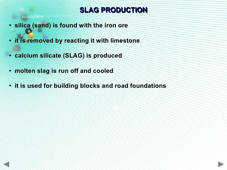 Calcium Silicate Slag : Extract of metals